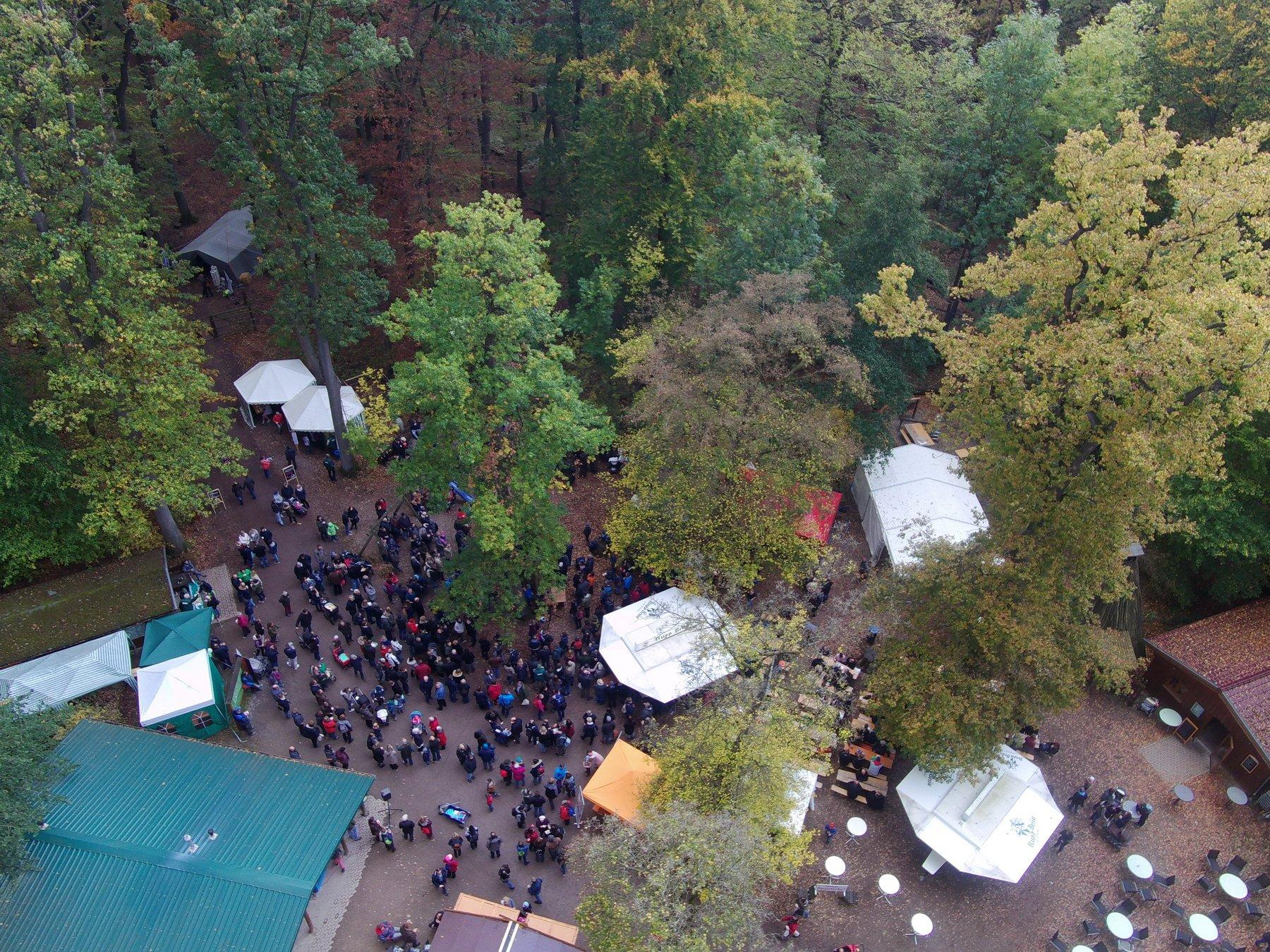 Luftbild vom Hubertusfest